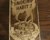 """1950's Smokers X-Rated Gag Gift, """"Break that Smoking Habit"""" """"Puff on These and you'll have the problem licked! Breast, Sex, Ashtray"""