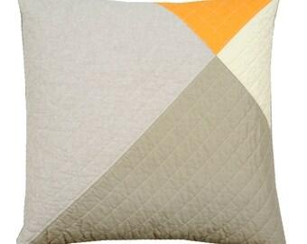 SUMMER SALE! Decorative Throw Pillow - Modern Orange Wingtip