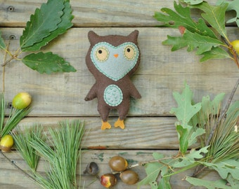 Felt Stuffed Owl