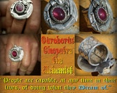 Ouroboros Legacy Cleopatra the Alchemist Ruby dragon Ring