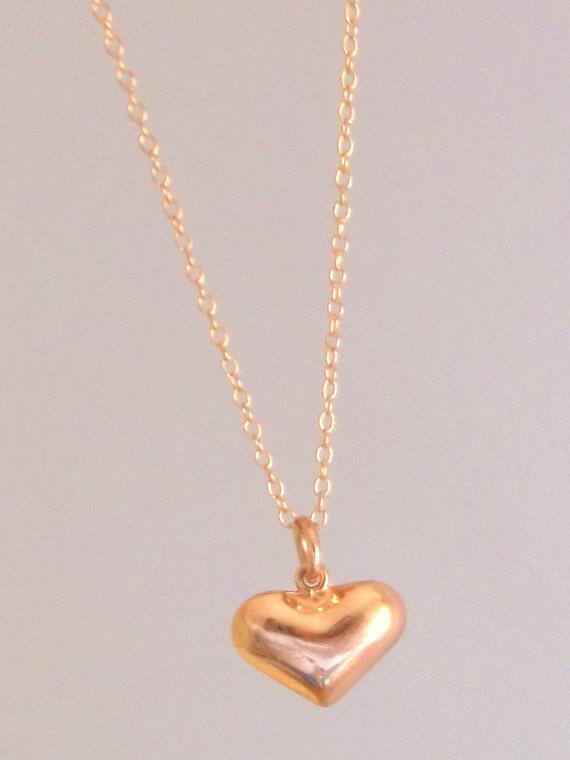 Rose Gold Vermeil Heart Pendant
