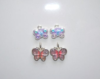 Butterfly Charms, Jewelry Supply, Craft Supply, Assorted Pendants, Jewelry Finding