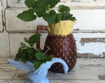 Vintage Figural Planter - Rare Blue Goose or Swan - Periwinkle Blue Matte Glaze