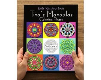 Mandala Coloring Book - Printed Coloring Pages in Folder -  Volume 1