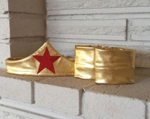 Wonder Woman Tiara and Cuffs