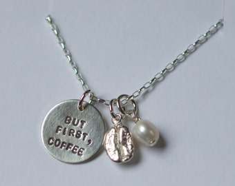 But First, Coffee Necklace with Coffee Bean