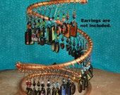 Copper Earring Holder, Earring Display, Jewelry Display C200 by CC Design