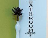 Bathroom Vinyl Decal, office Wall Decal, Vertical Bathroom sign, Office sticker, Business decor, Modern Decor, pretty Wall Accents, vinyl