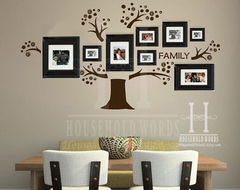 Family Tree Wall Decal, Memory Tree, Photo Tree Gallery Wall Art, Office And