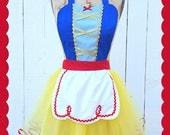 SNOW WHITE costume aprons, Snow White dress up costume aprons, Snow White apron, womens costume aprons, cosplay, Disney running costume