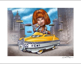 Fifth Element Pedal Car- 11 x 14 Signed Print
