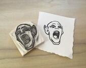 Hand Carved Stamp // Bat Boy