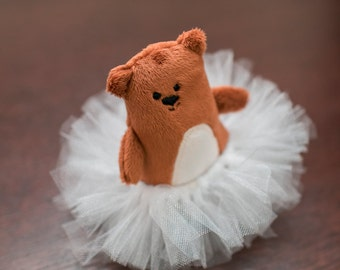 Junior Bearooshnikov and His Tutu Tiny Stuffed Bear Plushie