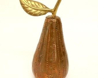 Copper & Brass Pear Figurine