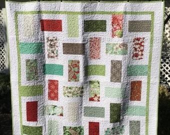 Handmade Holiday Quilted Lap/Sofa Quilt
