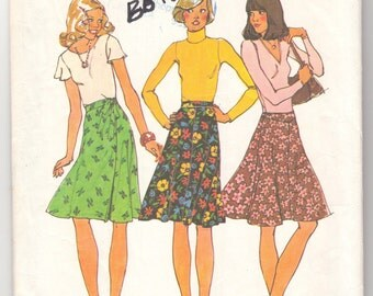 1970's Vintage Sewing Pattern Ladies' Wrap Skirts Simplicity 7910 30 Waist- Free Pattern Grading E-book Included