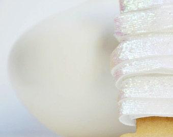 White Velvet Glitter Ribbon {9mm} Glitter Gift Wrap | White Glitter Ribbon | Holiday Ribbon | Christmas in July | White Wedding Ribbon
