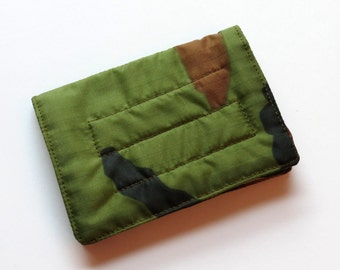 Mini Wallet with Credit Card slots and zipper Coin pocket - Camo Ripstop