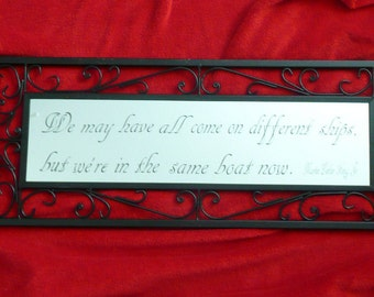Etched Glass Mirror - Martin Luther King Quote