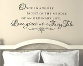 Master Bedroom Wall Decals - Love gives us a fairy tale - Bedroom Wall Decor - Wall Decals for Bedroom - Baby Room Decor