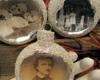 Ornaments Vintage Style, Poe, Raven, Cemetery, Post Mortem, Bat, Autopsy