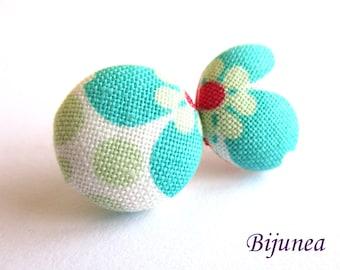 Flower earrings - Blue flower earrings - Flower stud earrings - Flower studs - Flower post earrings - Flower posts sf1287