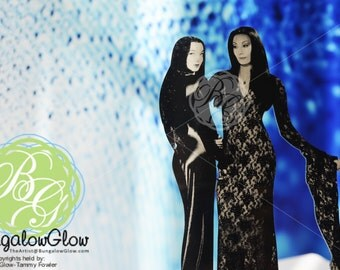 Morticia Cake Topper, Morticia Display Art, Addams Family Art, LGBT Wedding