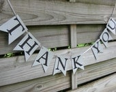 Thank You Banner - Silver and Black Wedding - Wedding Thank You Photo Prop Sign - Thank You Bunting in Silver and Black