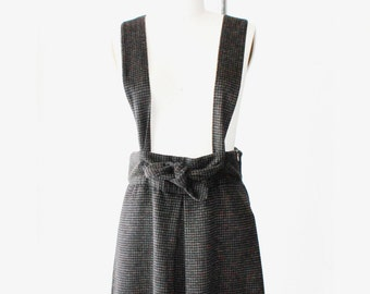 1990's Brown Japanese Suspender Dress