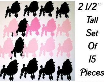Poodle Die Cuts set of 15