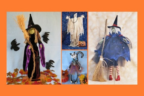 Cloth Doll E-Patterns Special Selection of Halloween ePatterns