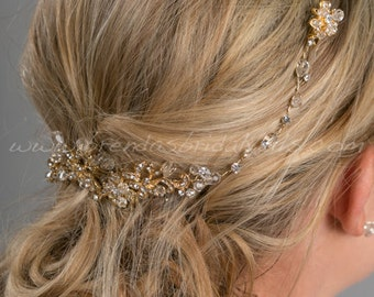 Wedding Hair Swag, Bridal Hair Vine, Bridal Headpiece, Wedding Hair Accessory - Janelle