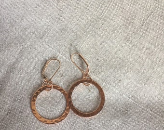 Chunky gold hoops, gold, rose gold, silver, Boho Earrings, rose gold earrings, eternity circle, boho jewelry, Rose gold hoops, minimalist,