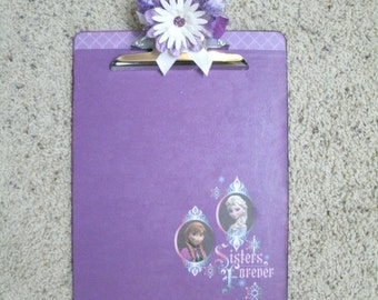 FROZEN Anna and Elsa Disney Princess Altered Clipboard