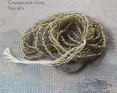 Size 18/0 Vintage Antique Micro Seed Beads - Transparent Grey