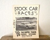 "1971' ""Stock Car Races"" Official Program"