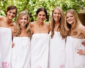 Personalized Bridesmaids Gift Spa Wrap Monogrammed Gift