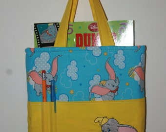 Crayon Bag, Tote Bag, Crayon Tote Bag, Crayon Holder, Dumbo