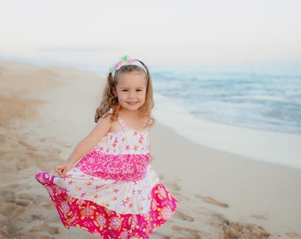 Girls Beach Dress - Hawaiian Dress