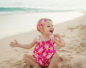Summer Dress - Girls Beach Dress - Sea Turtle