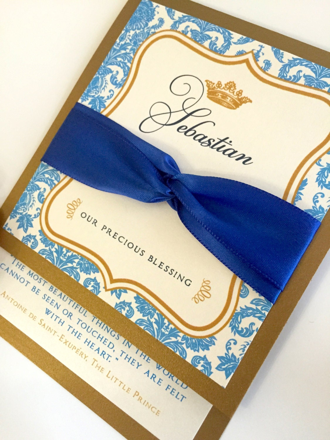 anaderoux royal prince baby shower invitations royal blue and gold