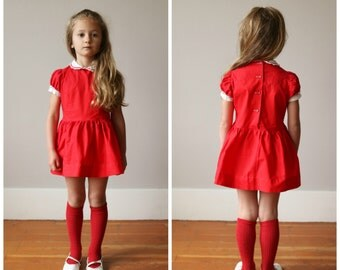 1950s Sweetheart Dress~Size 3t/4t