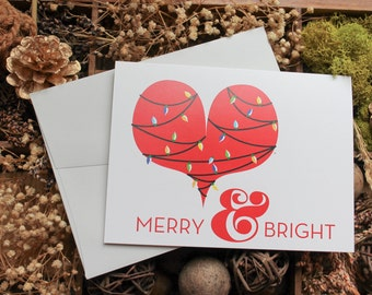 Merry and Bright Holiday Stationery | Holiday Card | Christmas Card | Greeting Cards | Personalized Christmas Cards | Reindeer
