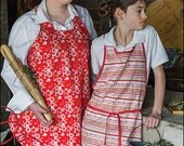 Ooh La La Apron Digital Sewing Pattern PDF - reversible option; adult & child size included; design created with Where Women Create Magazine