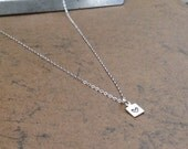 Silver Heart  Necklace  Super Tiny
