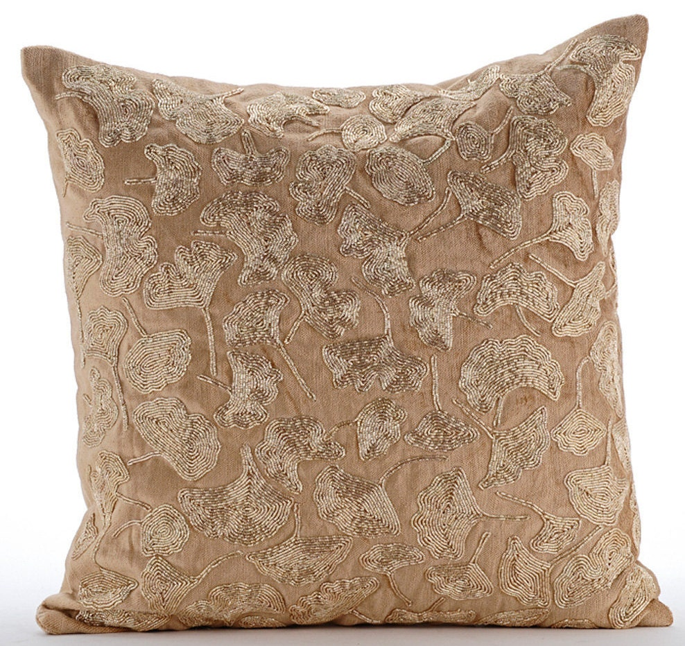 Gold decorative pillow cover 16x16 velvet pillow - Decorative throw pillows ...
