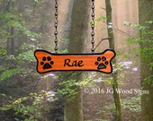 Dogbone Addon - Carved Camper Sign Redwood Sign Addon - Dogbone with Pawprints JG Wood Signs Etsy Carved Camping Sign