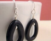 onix and sterling silver earrings, jewelry sale, black earrings, silver earrings, onix drops