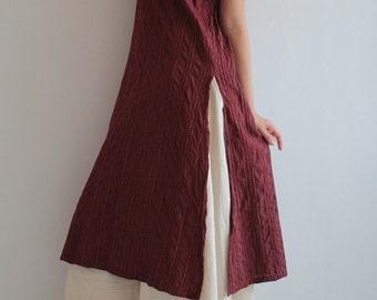 Artistic collection... Kurta dress, Round basic neck tunic dress full hand embroidery [D 017]