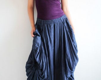 Helen Skirt.. Indigo No.13 mix silk...(avalible All sizes/ all colors)